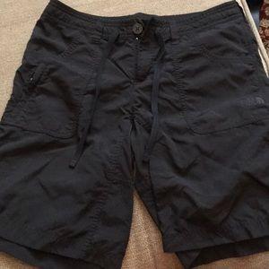North Face black shorts size 8